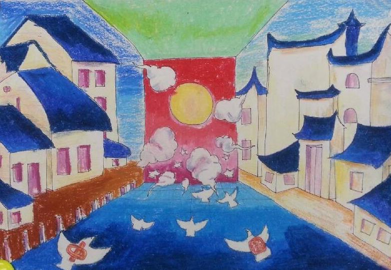 红领巾相约中国梦绘画作品展