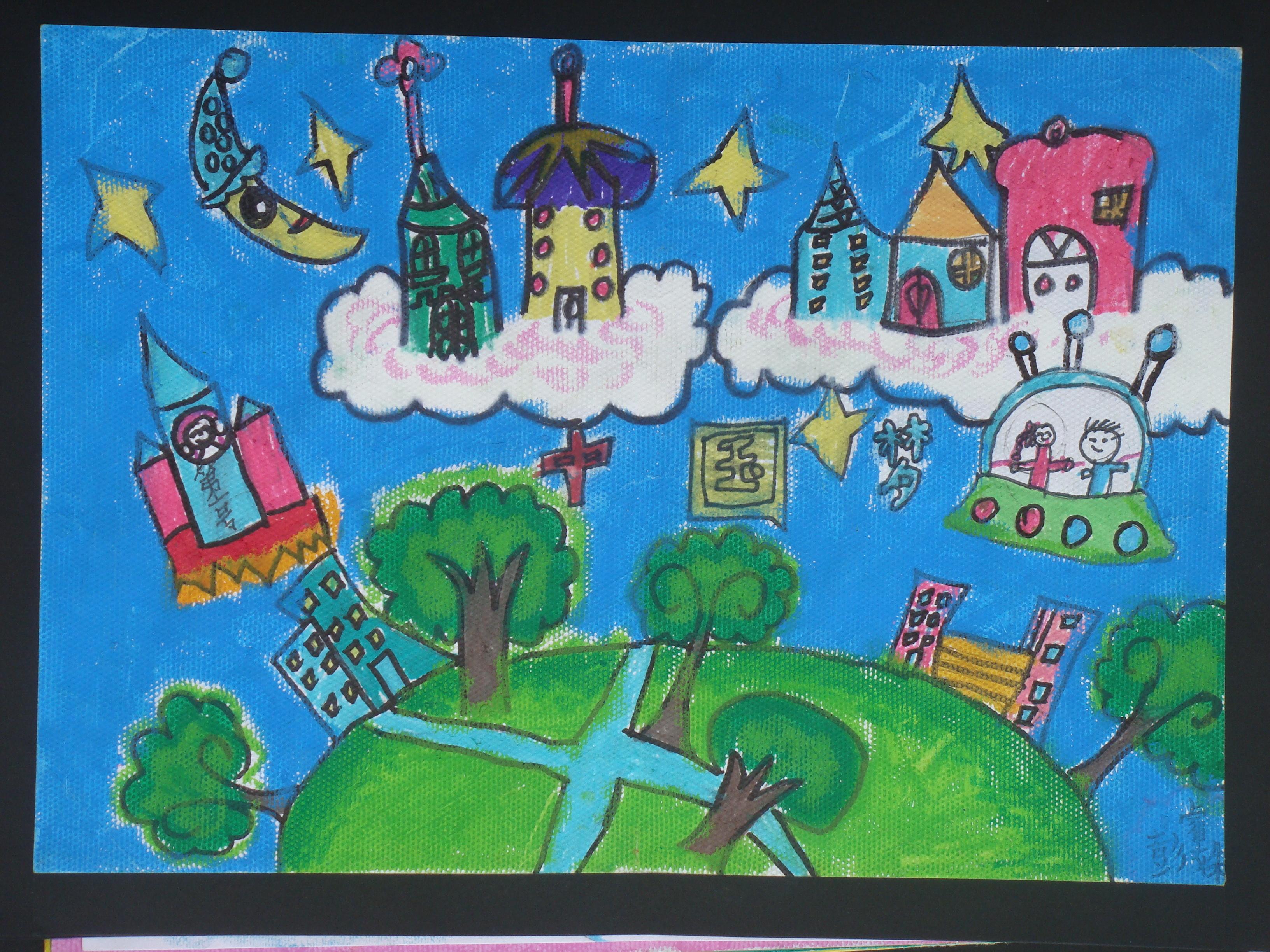 中国儿童环保教育计划绘画比赛作品8; 儿童画获奖作品:儿童画国际获奖图片