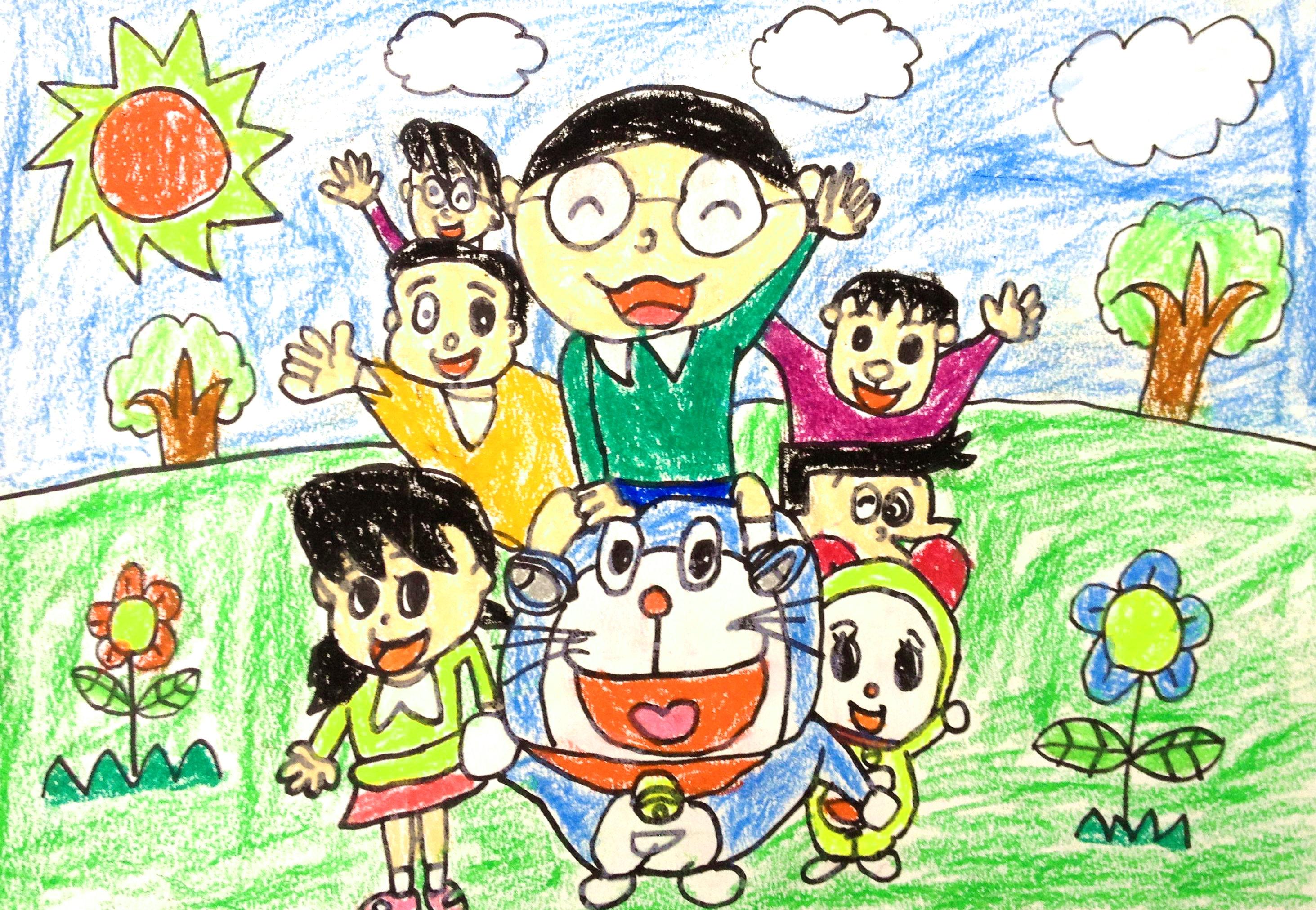 830 我要评论 1  1 大图浏览 分享到: 多啦a梦全家福展示全世界小朋友
