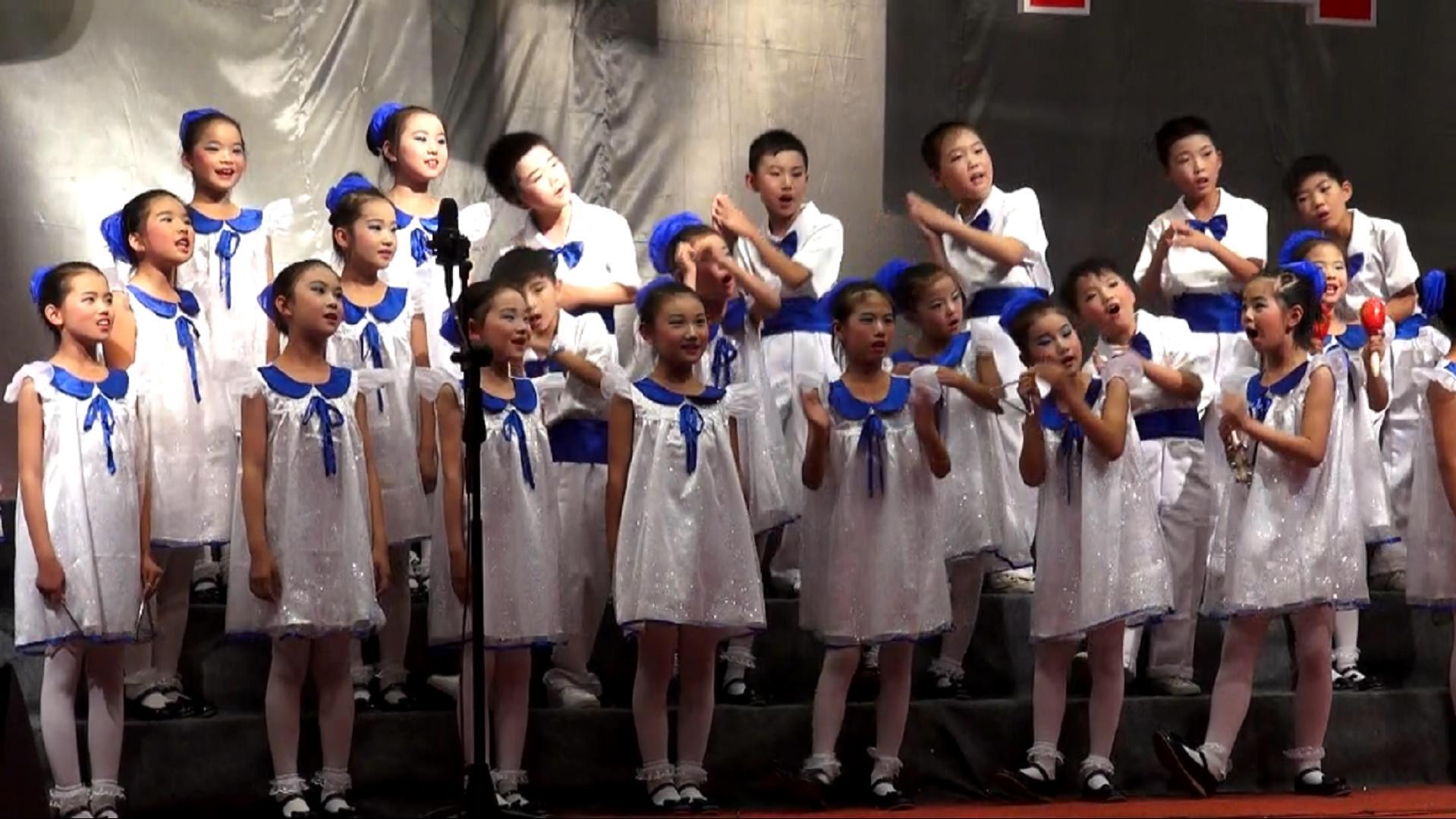 """我的中国梦合唱比赛_淇滨区嵩山小学积极参加鹤壁市""""我的中国梦""""合唱节比赛 - 红 ..."""