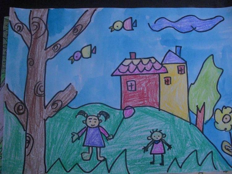 幼儿绘画未来的房子
