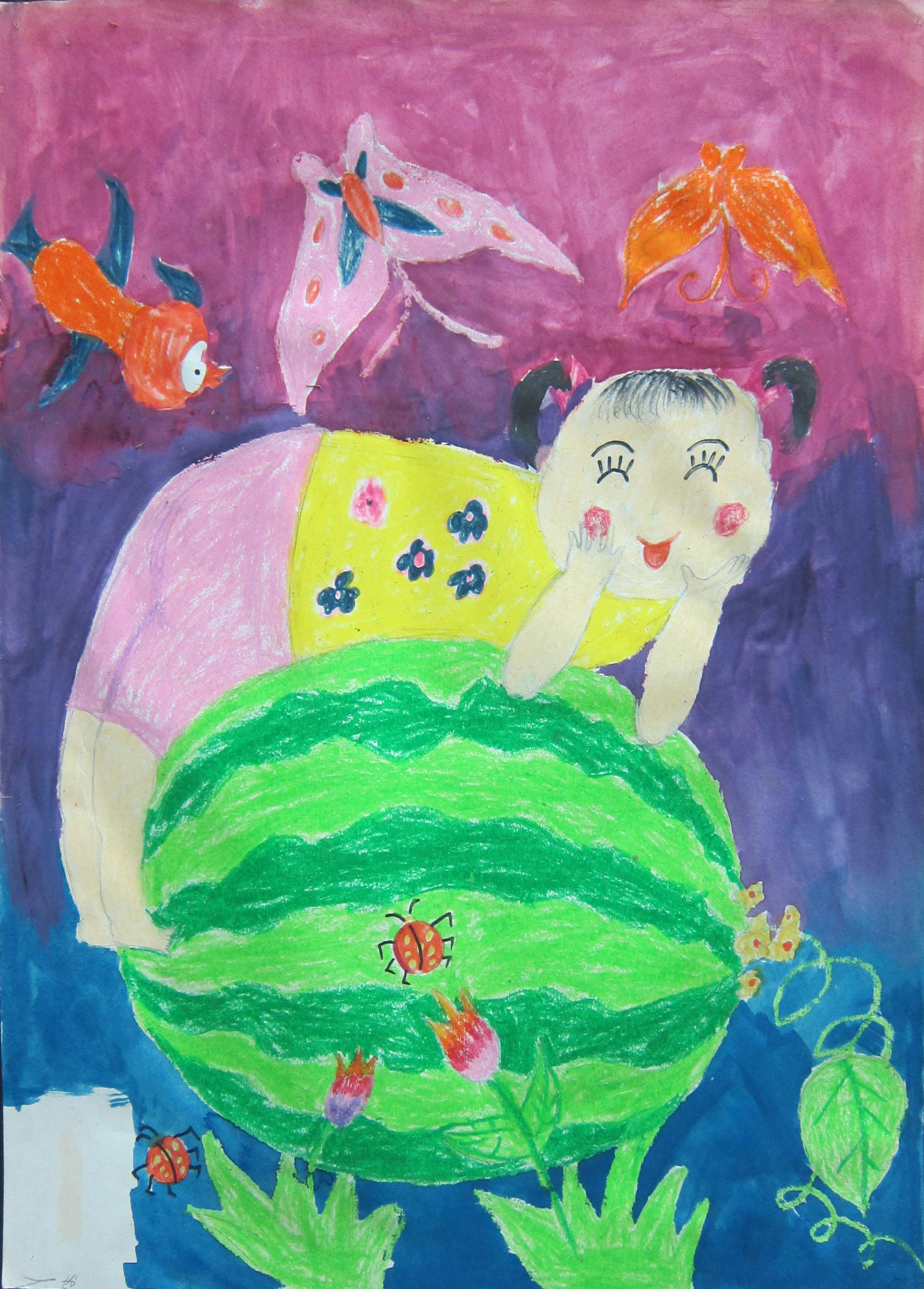 小班美术画可爱的娃娃