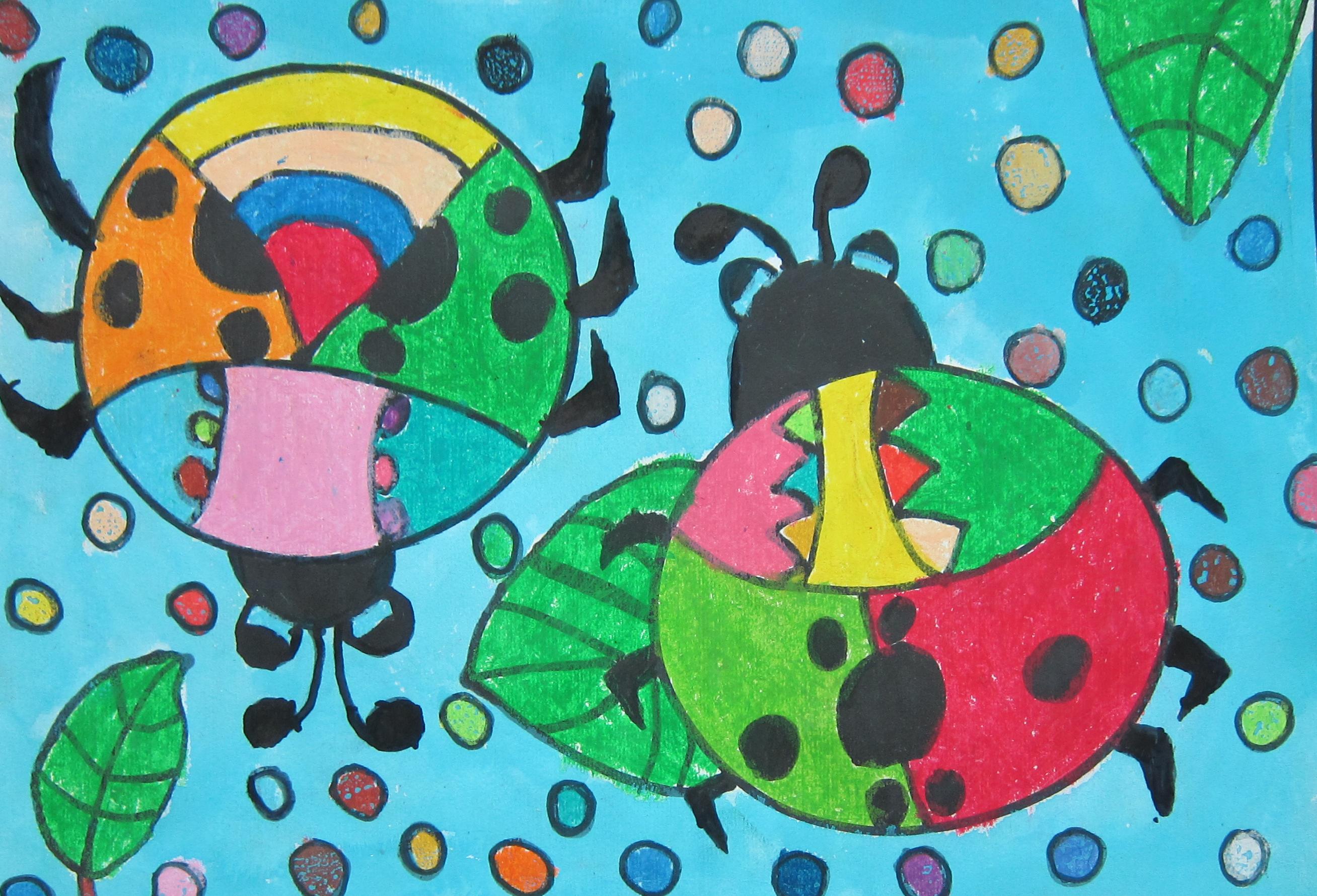 七星瓢虫-王博 - 白石杯-青少年书画大赛优秀作品