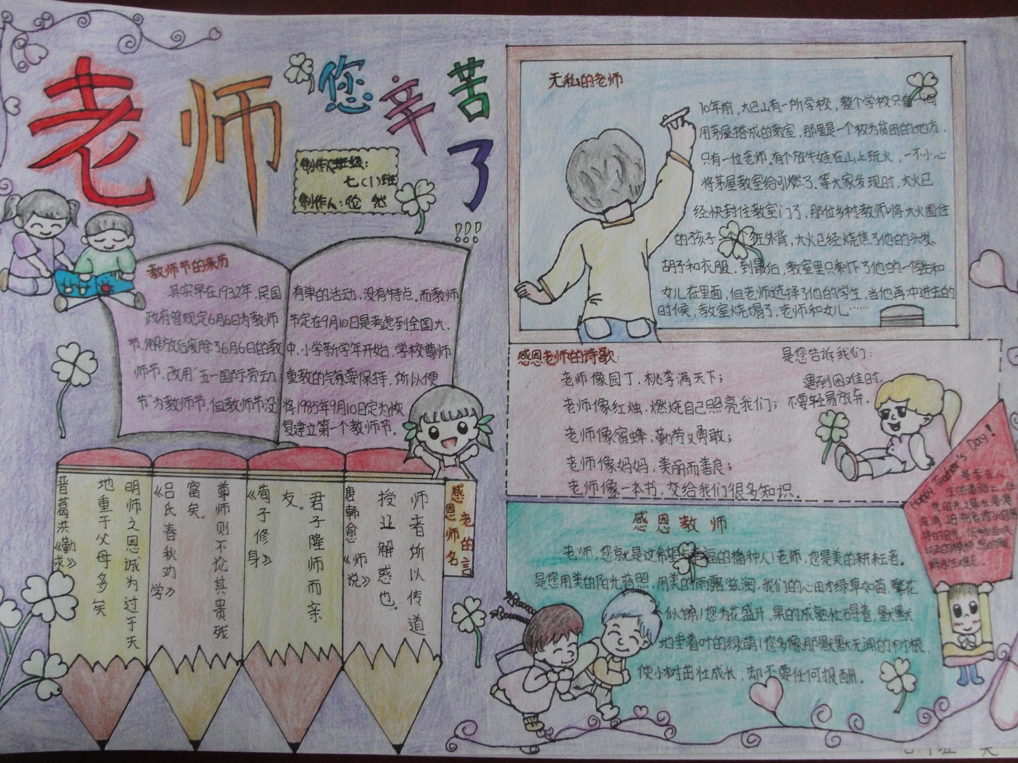 中秋节教师节小报内容中秋节教师节小报图片  初二国庆节英语手抄报