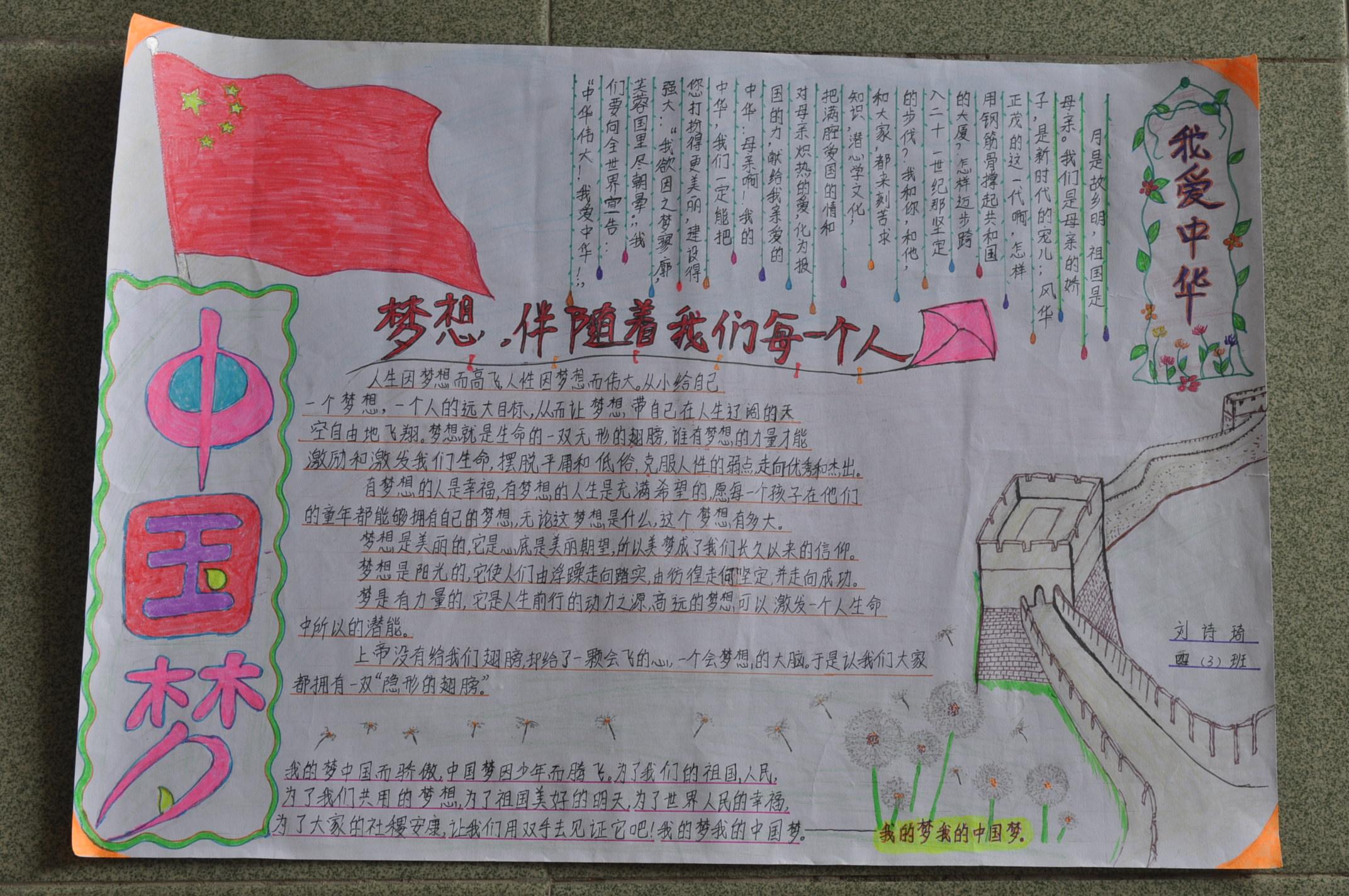 """""""中国梦,我的梦""""手抄报"""