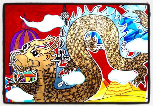 中国梦 我的梦 学生绘画比赛图片