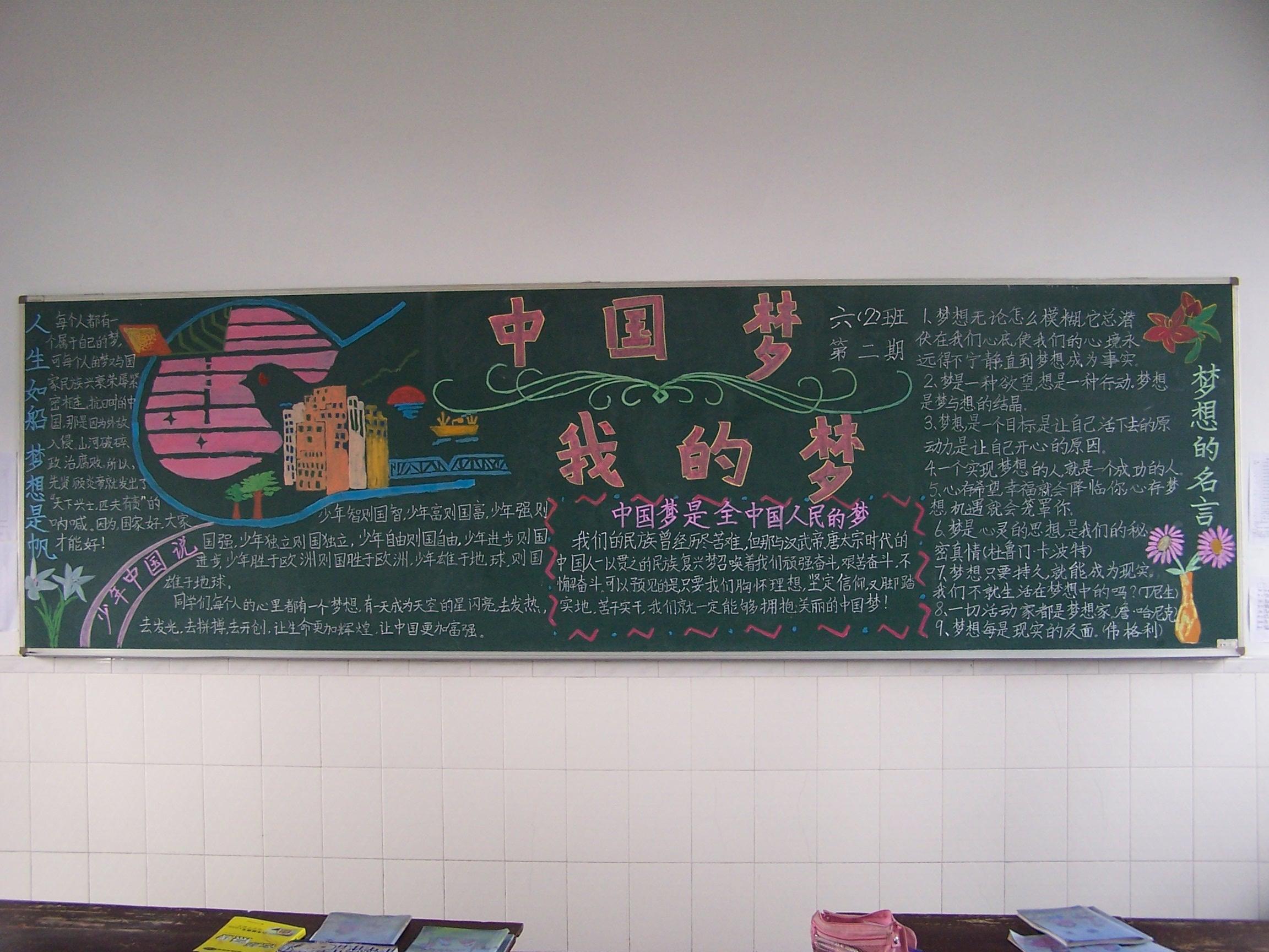 """""""相约中国梦""""黑板报"""