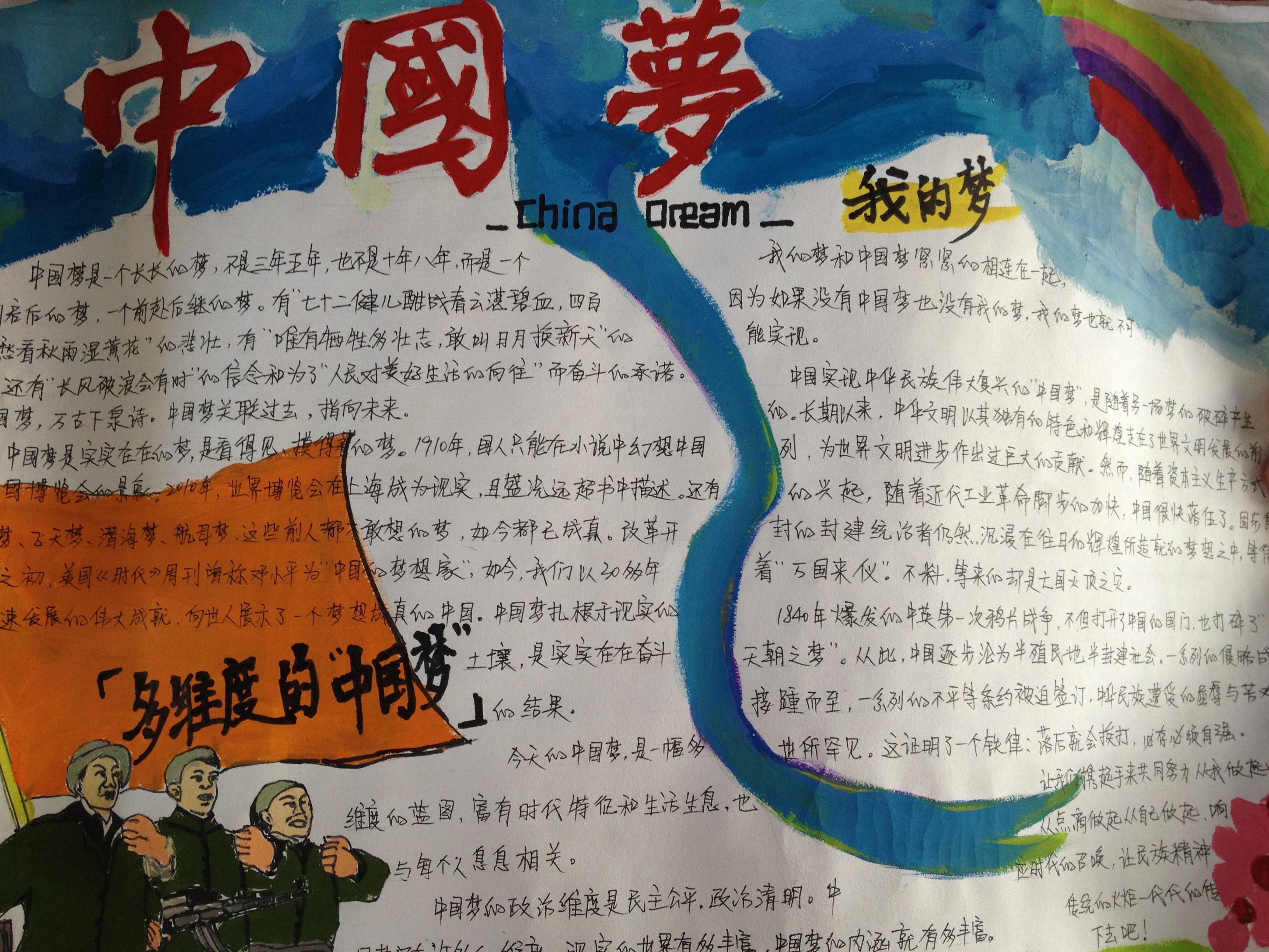 纪念 中国梦 手抄报比赛