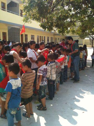 合浦县常乐镇平心小学入队仪式图片
