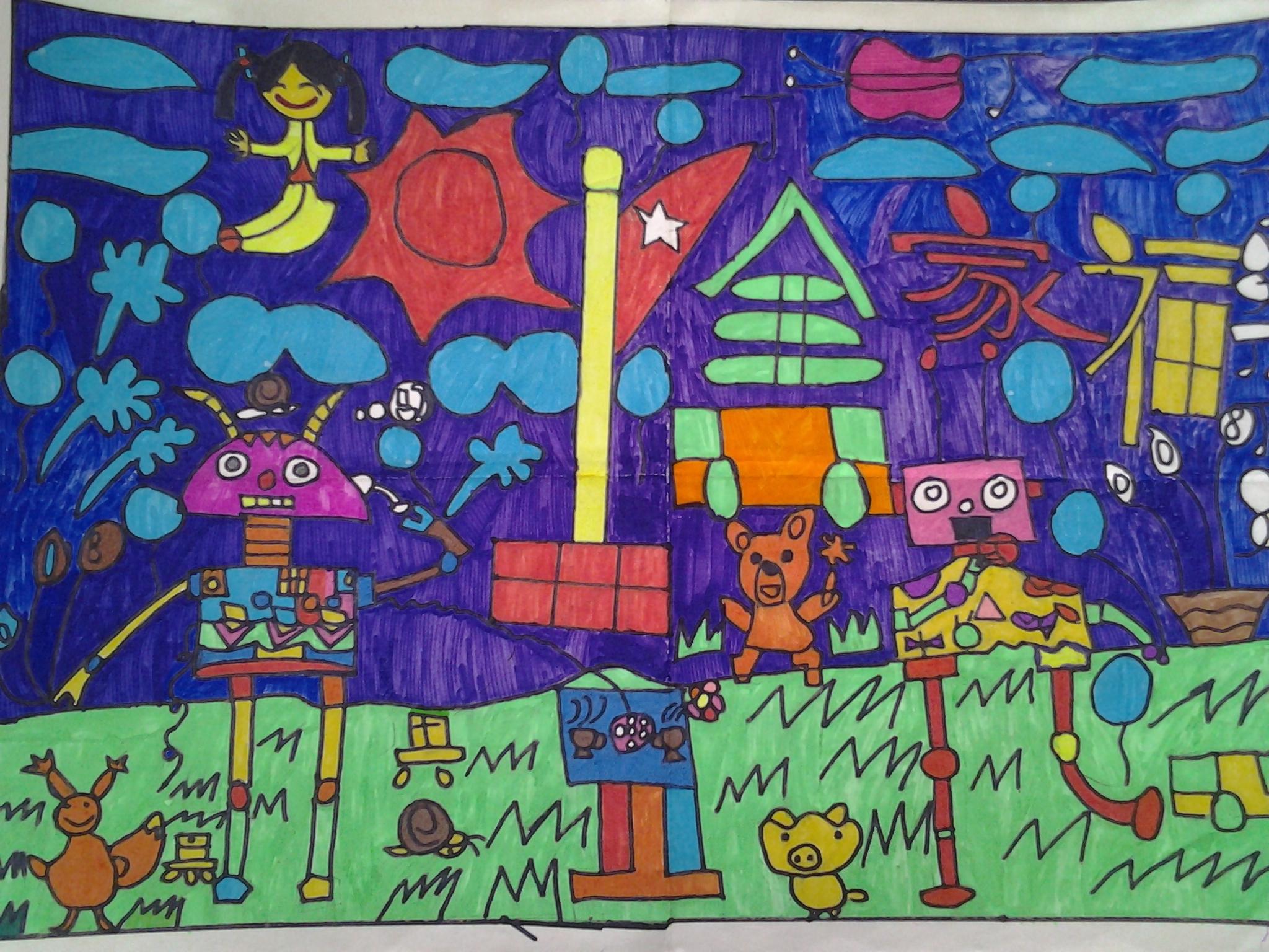 儿童科幻画怎么画_易发生活网