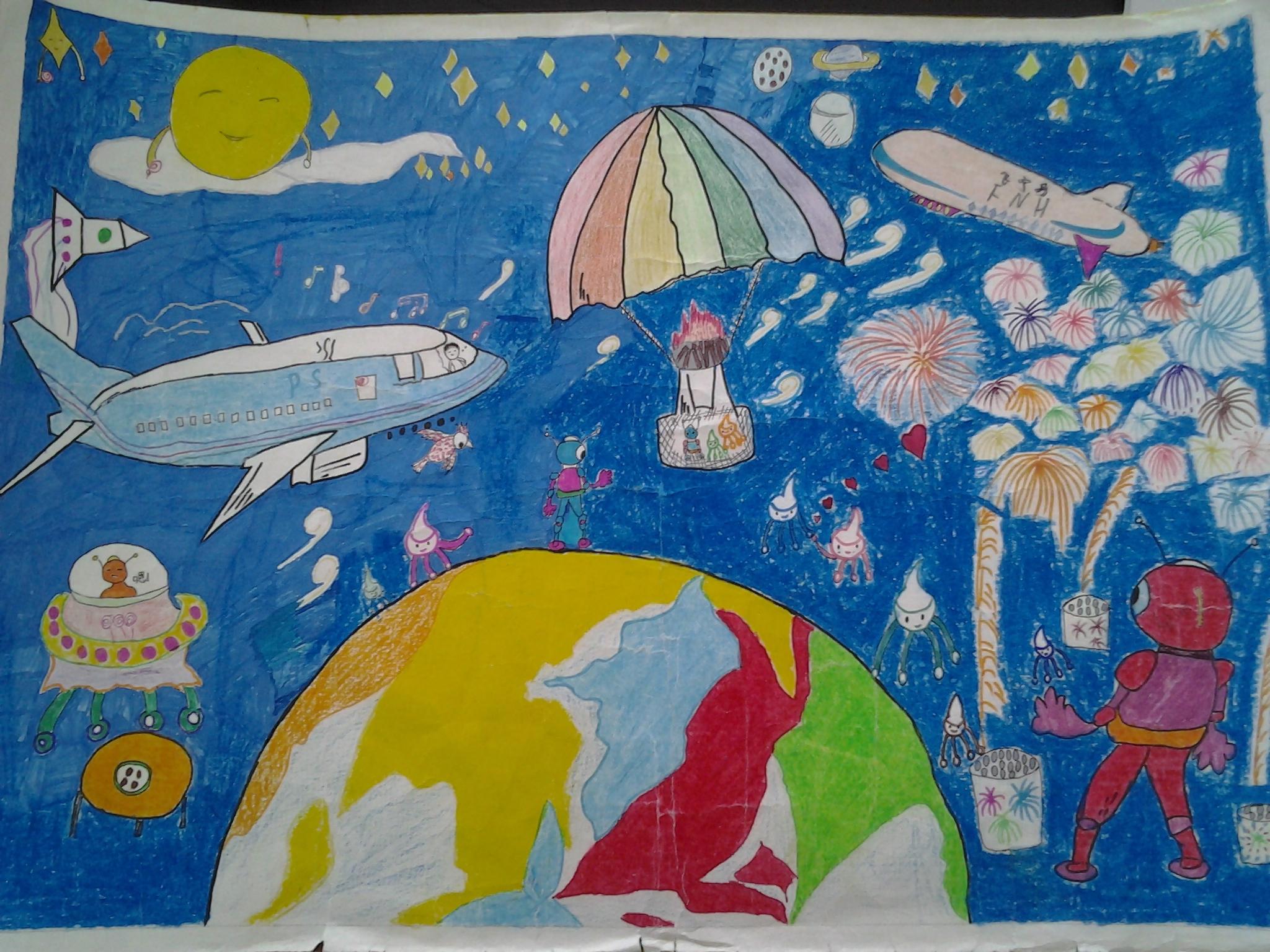 关于科技儿童画-装饰纹样图片-科技节儿童画-科技儿童画大全-儿童绘画图片