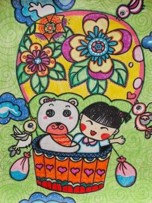 实验小学开展 中国梦 民族魂 自强心 主题系列活动 学生绘画作品照片
