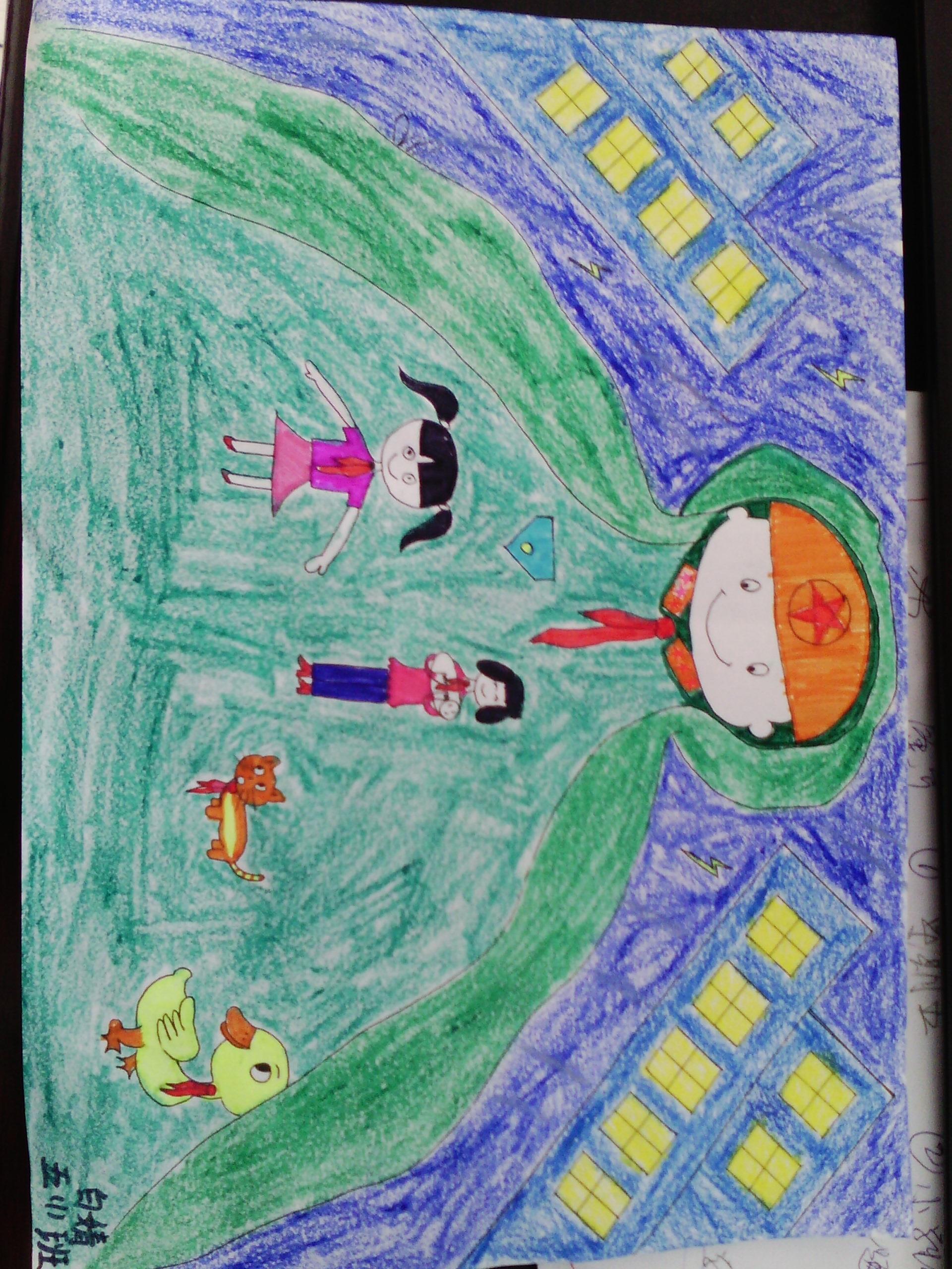红领巾相约中国梦小学生绘画作品