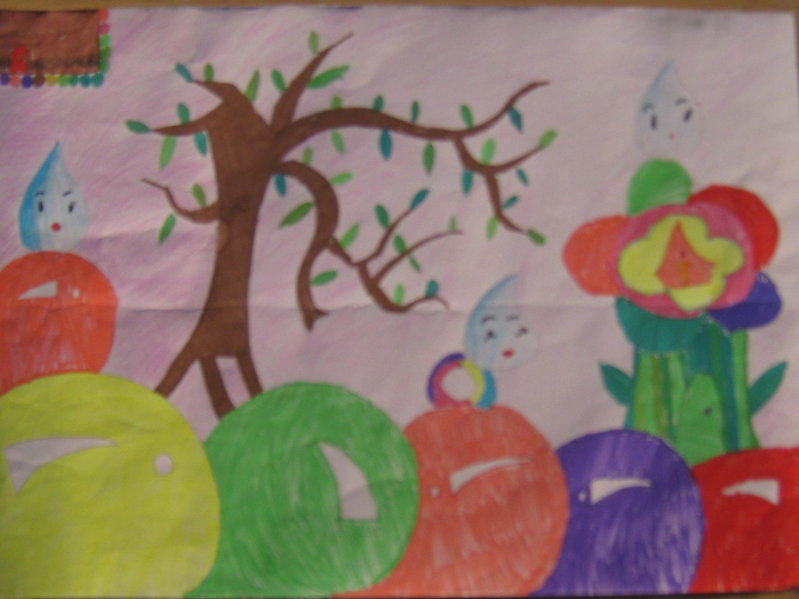 我的中国梦,绘美丽家园 学生绘画作品