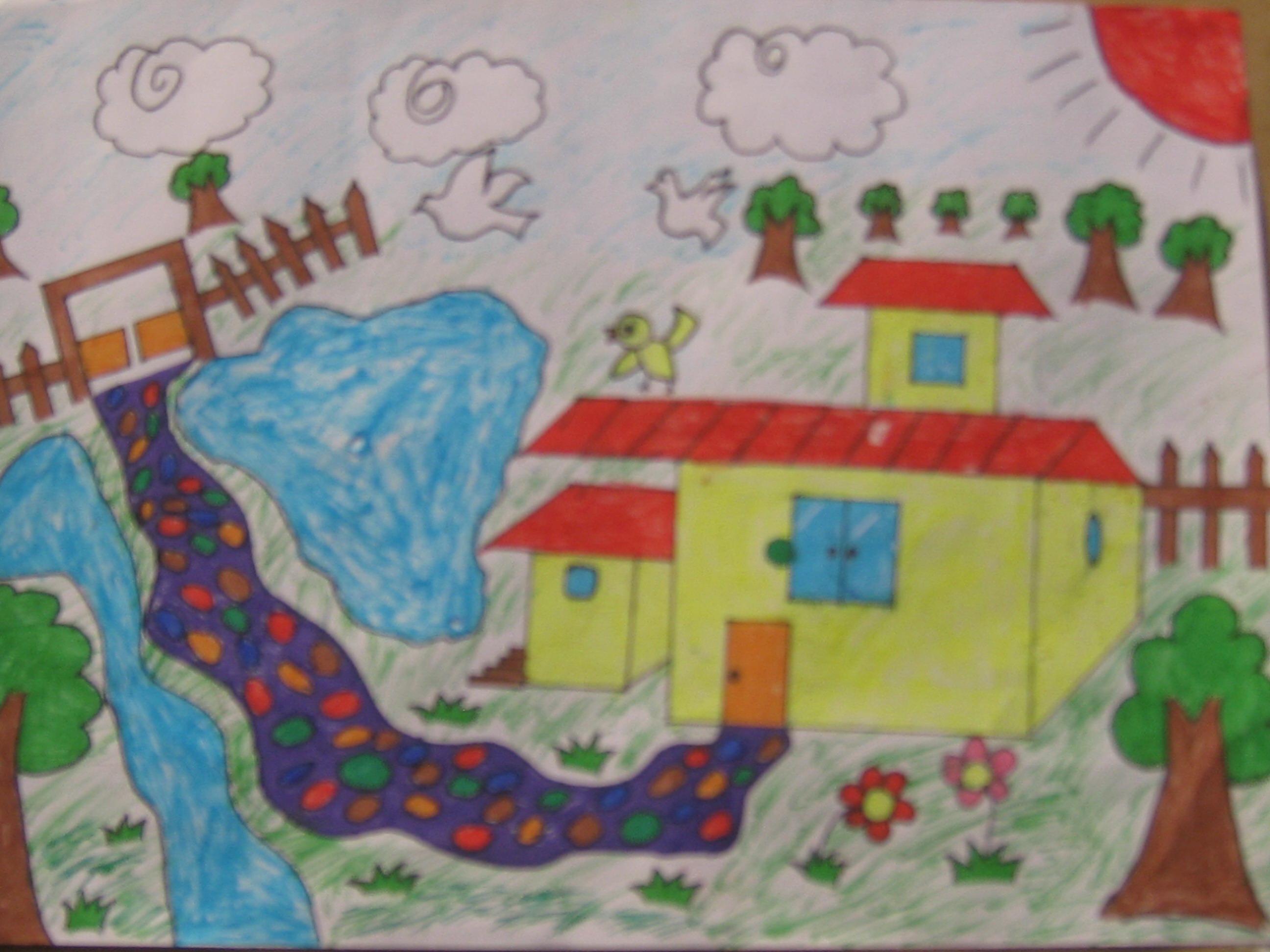 廊坊四小 我的中国梦,绘美丽家园 学生绘画作品