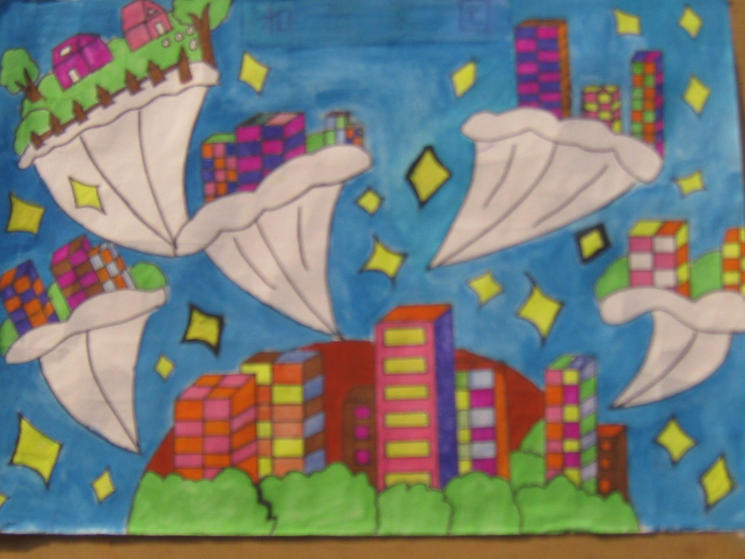 我的中国梦,绘美丽家园学生 绘画 作品