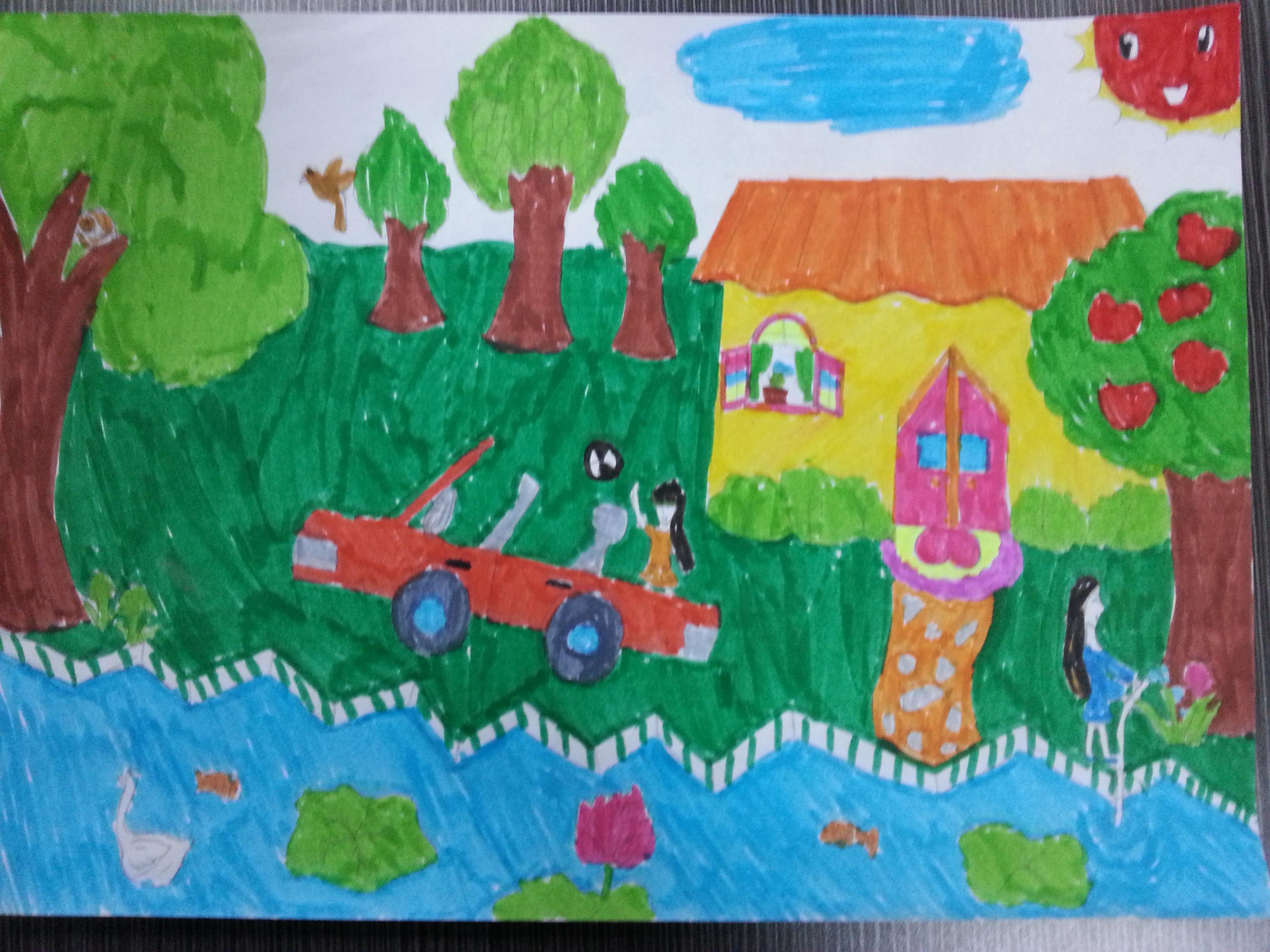 我爱家乡美_我美丽的家乡图画-美丽的家乡图画简单,小学生图画美丽的家乡 ...