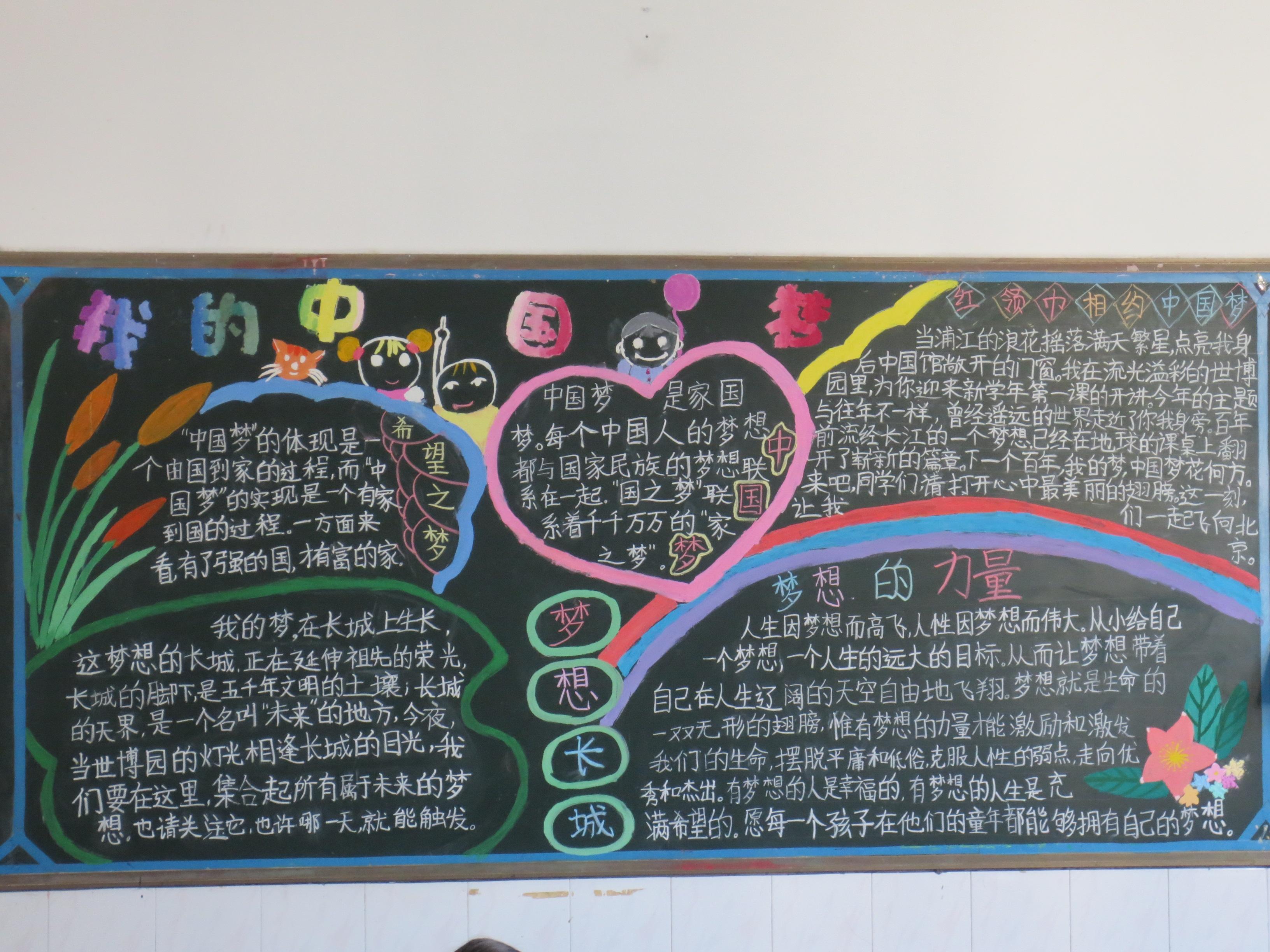 中国梦主题黑板报