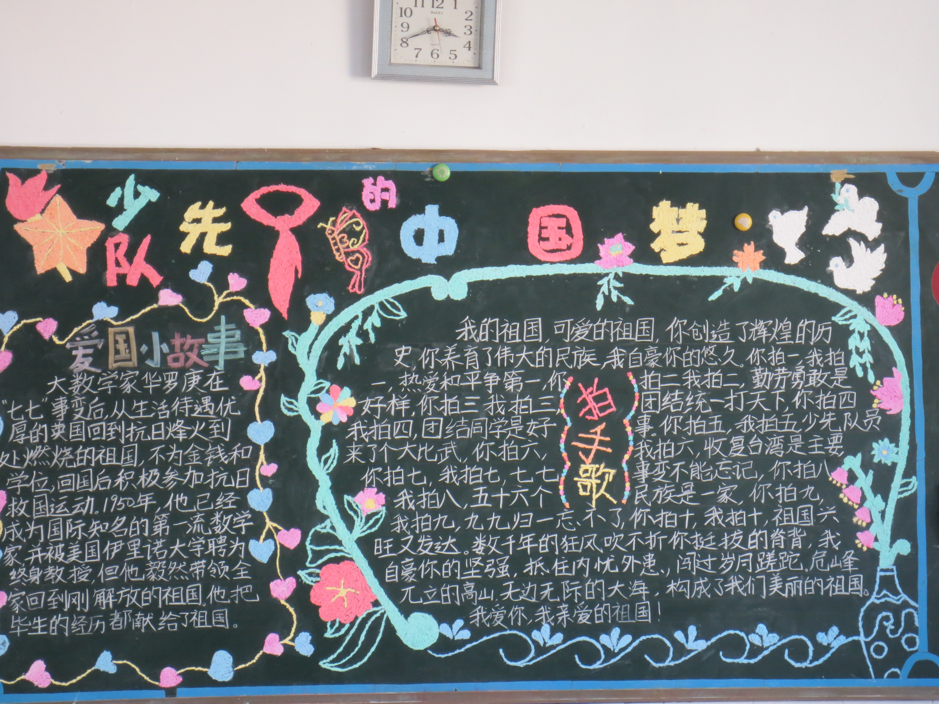 中国梦主题黑板报图片
