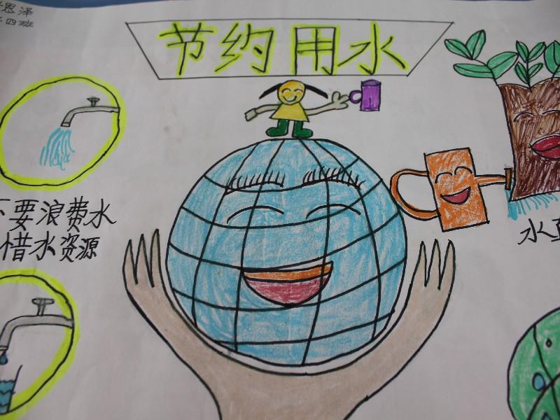 小学生节约用水绘画图片_小学生节约用水绘画图片图片