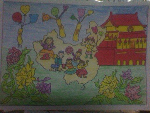 红领巾相约中国梦绘画作品