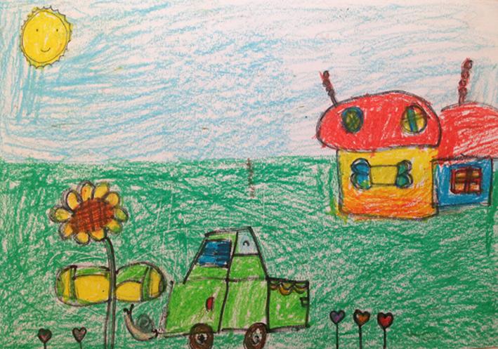 儿童 蜡笔画 课表上传 活动 未来网 红领巾 集