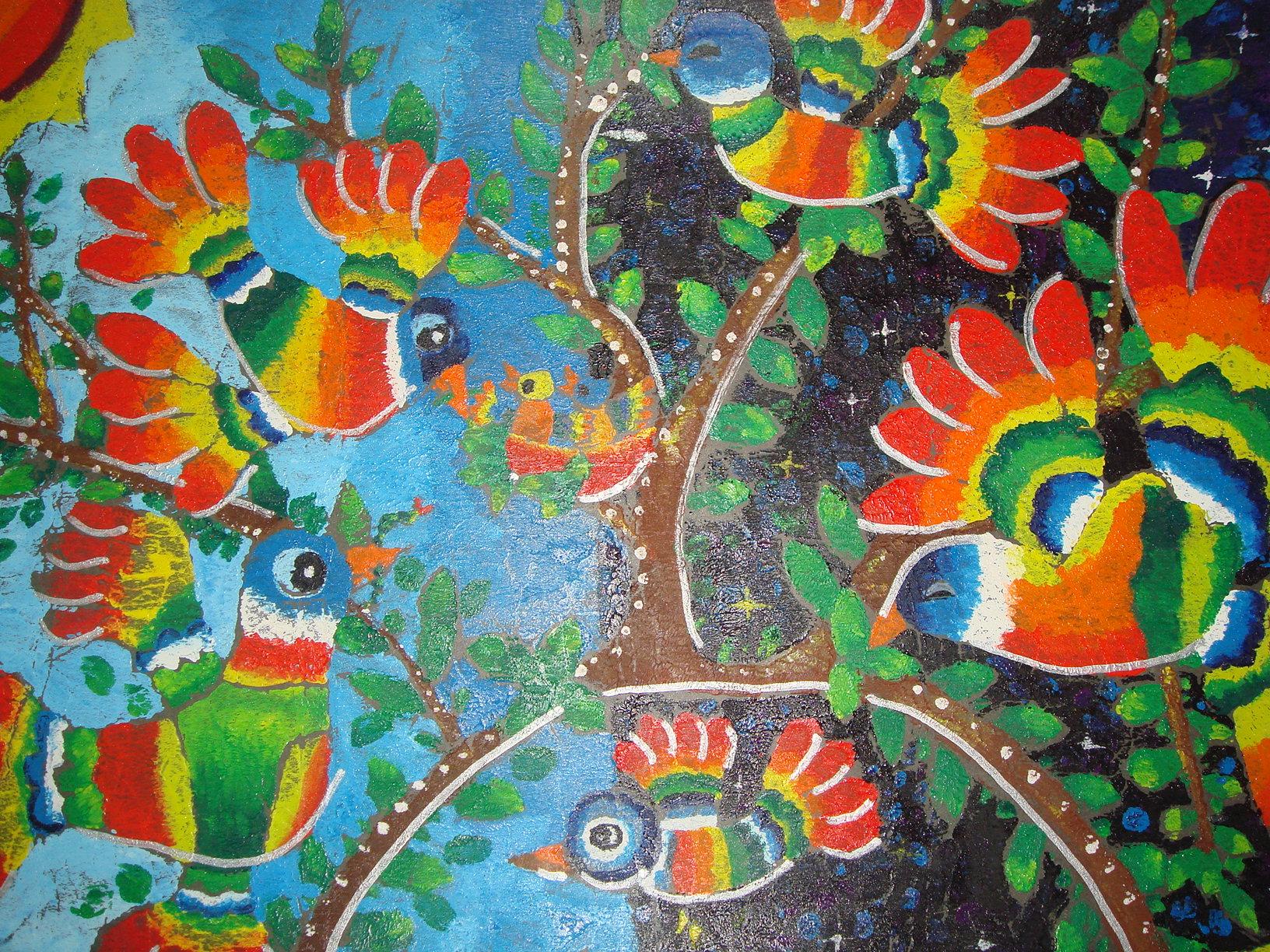 彩虹的画法儿童画图片