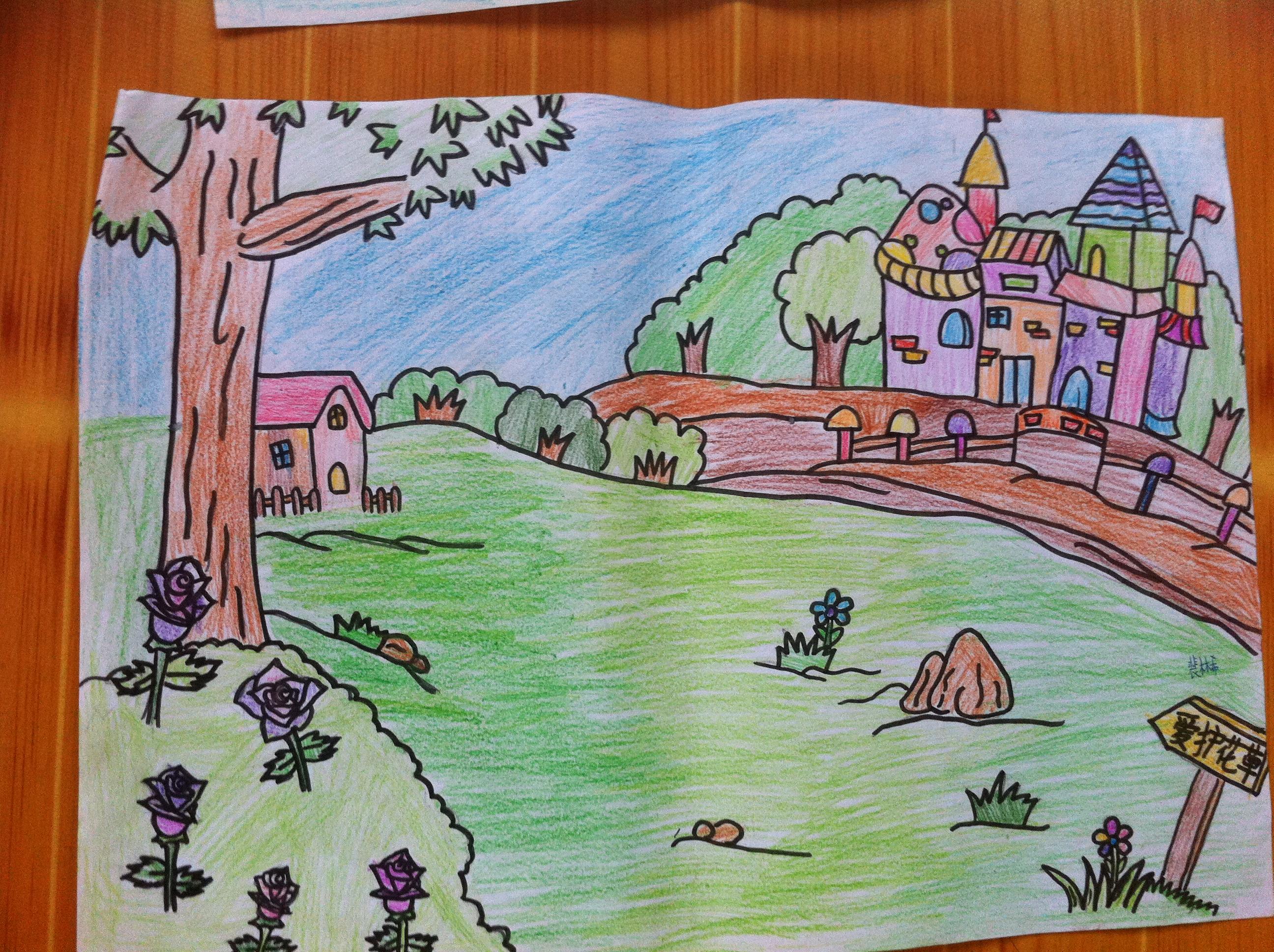 日照开发区第一小学红领巾相约中国梦绘画