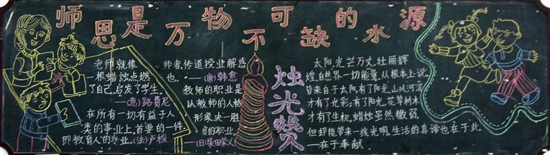 相约中国梦--教师节黑板报(1) - 教案设计上传 - 活动