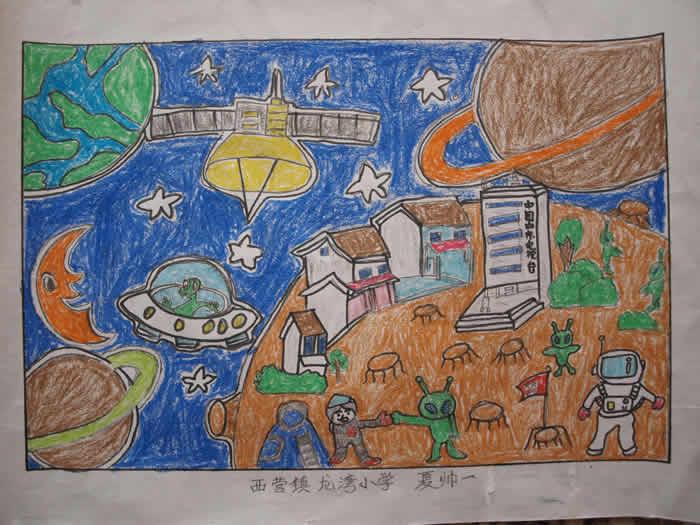 畅想未来年级画语文单元幼儿作文第三小学六上册图片