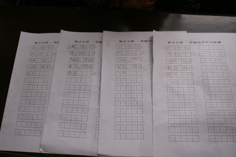 潞城市育大队少先小学组织开展汉字听写大白居易的诗小学图片