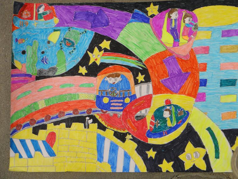 少年儿童画祖国风景画