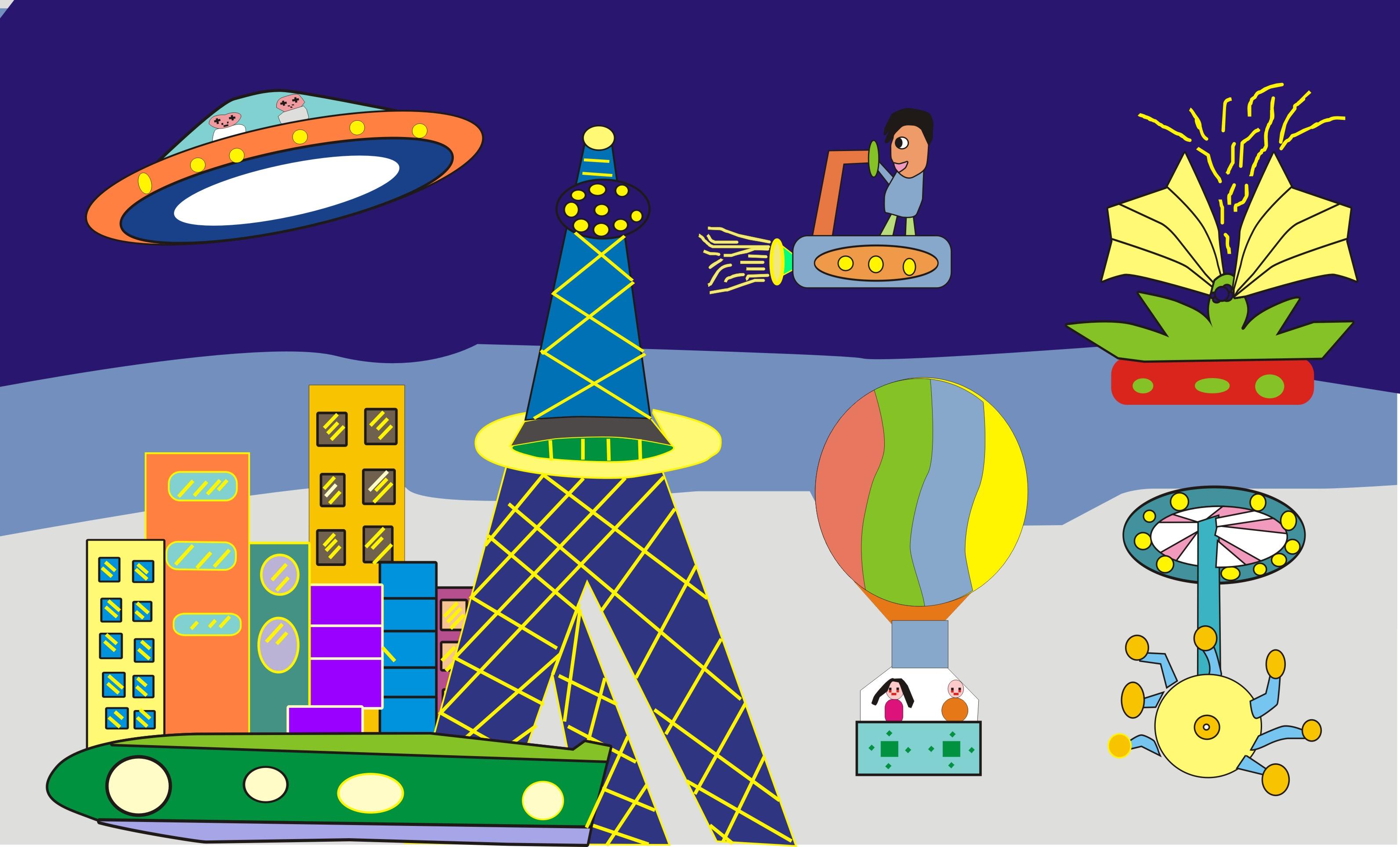《未来世界》绘画主题优秀作品_黄河新闻网_山西之窗