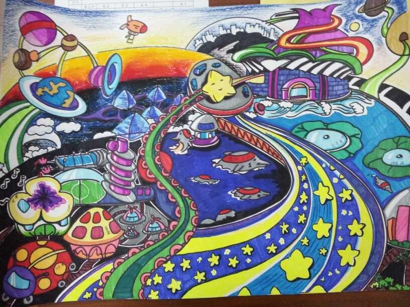 学生想象绘画作品 - 课表上传