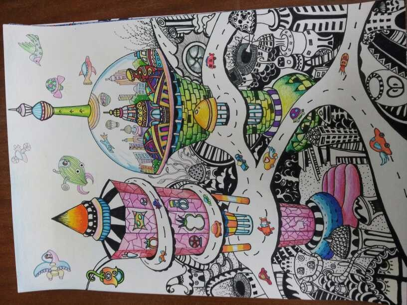 学生想象绘画作品