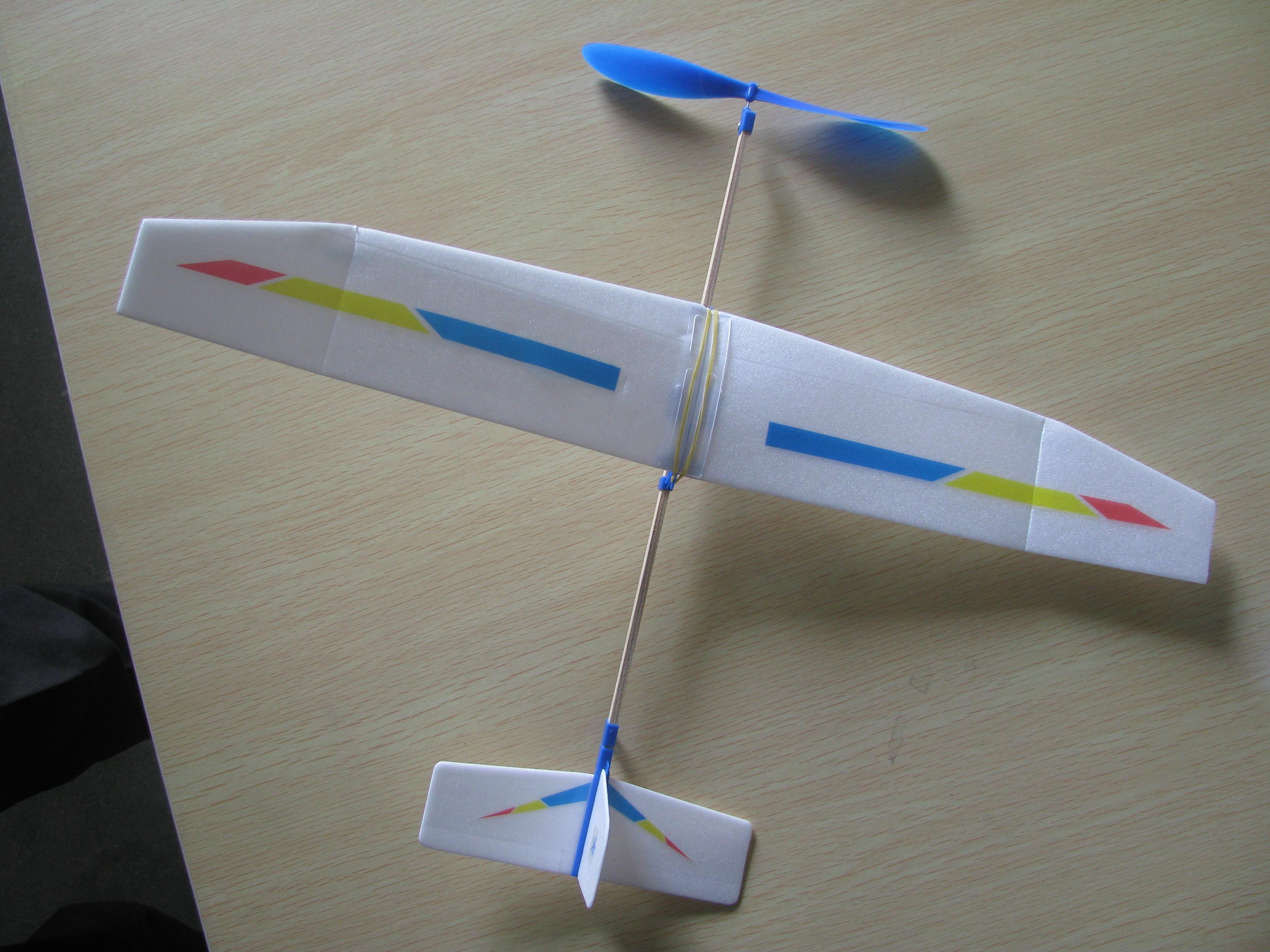自制橡筋动力模型飞机