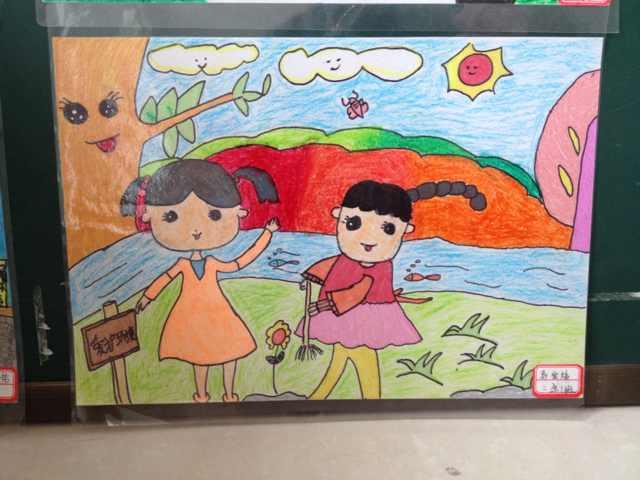 红领巾相约中国梦 绘画作品