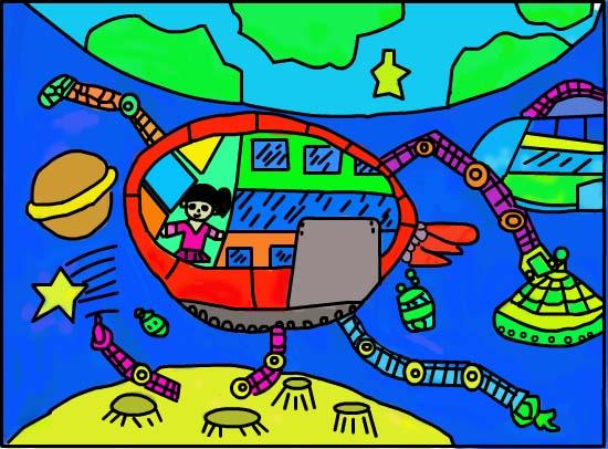图片征集 想象科技绘画类  发布时间:2014-04-08 15:22发布者:田竣雯