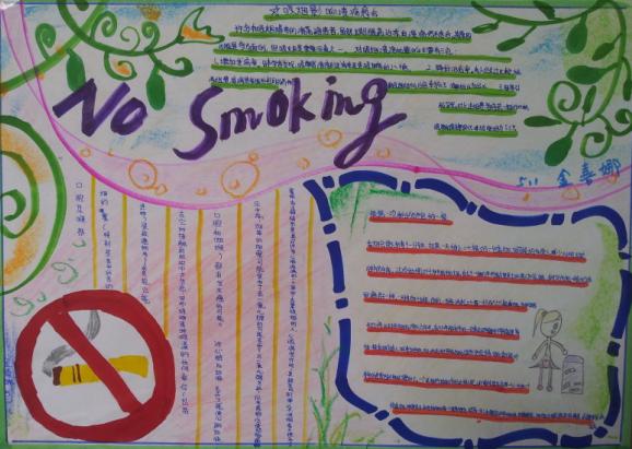 戒烟手抄报设计