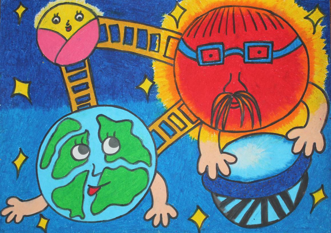 儿童星球简笔画