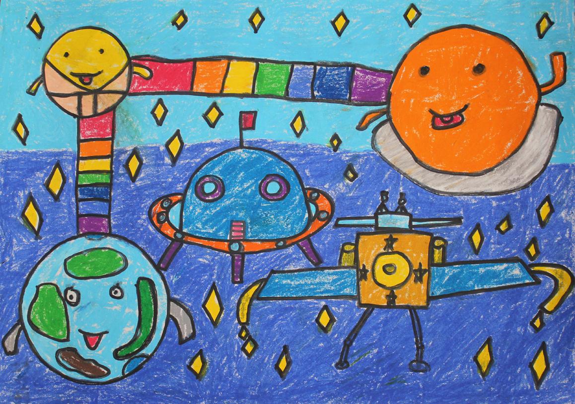 飞船画太空飞船图片_图片画太空小学画法科技黄盖湖科技赤壁市图片