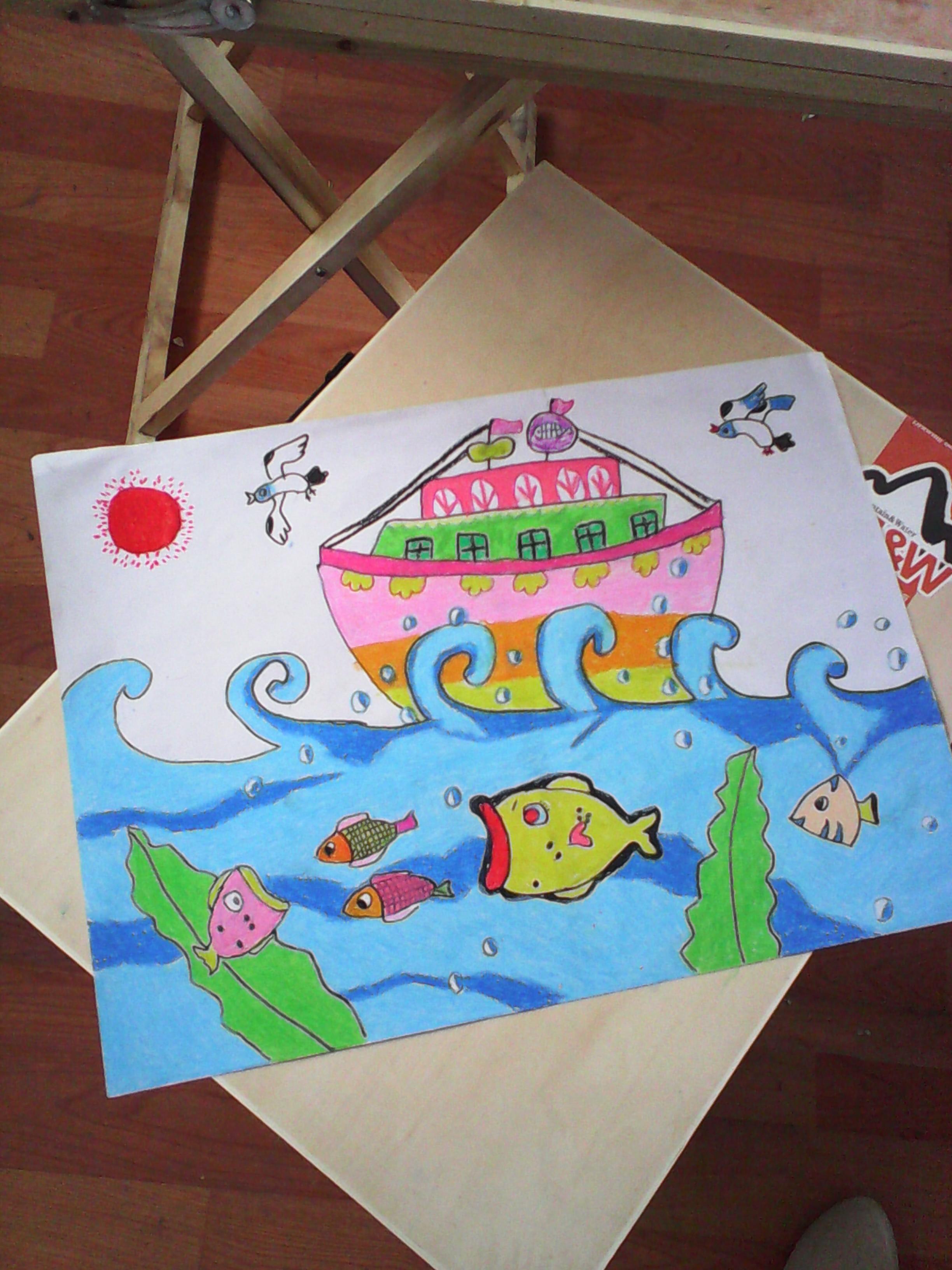 大营一小学生绘画作品
