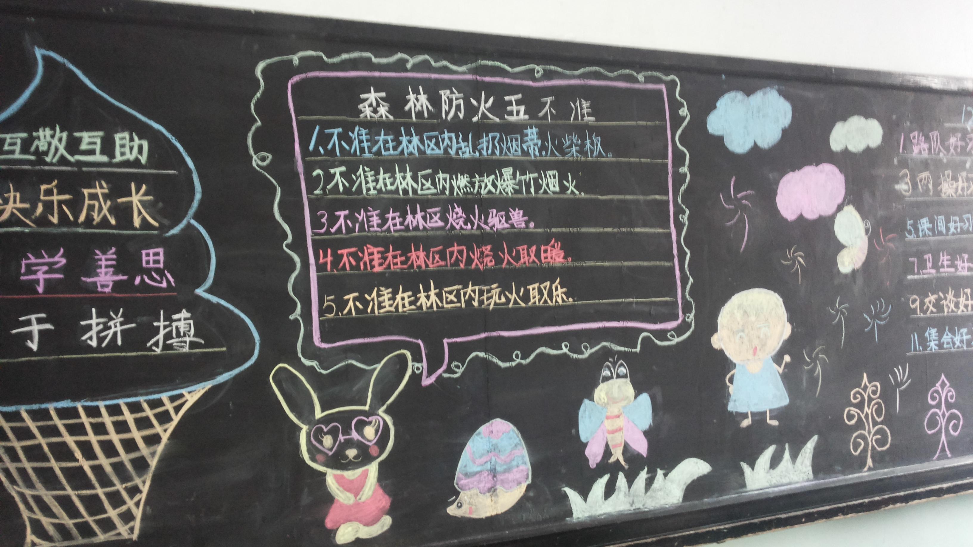 以校园安全为主题的黑板报_学识网