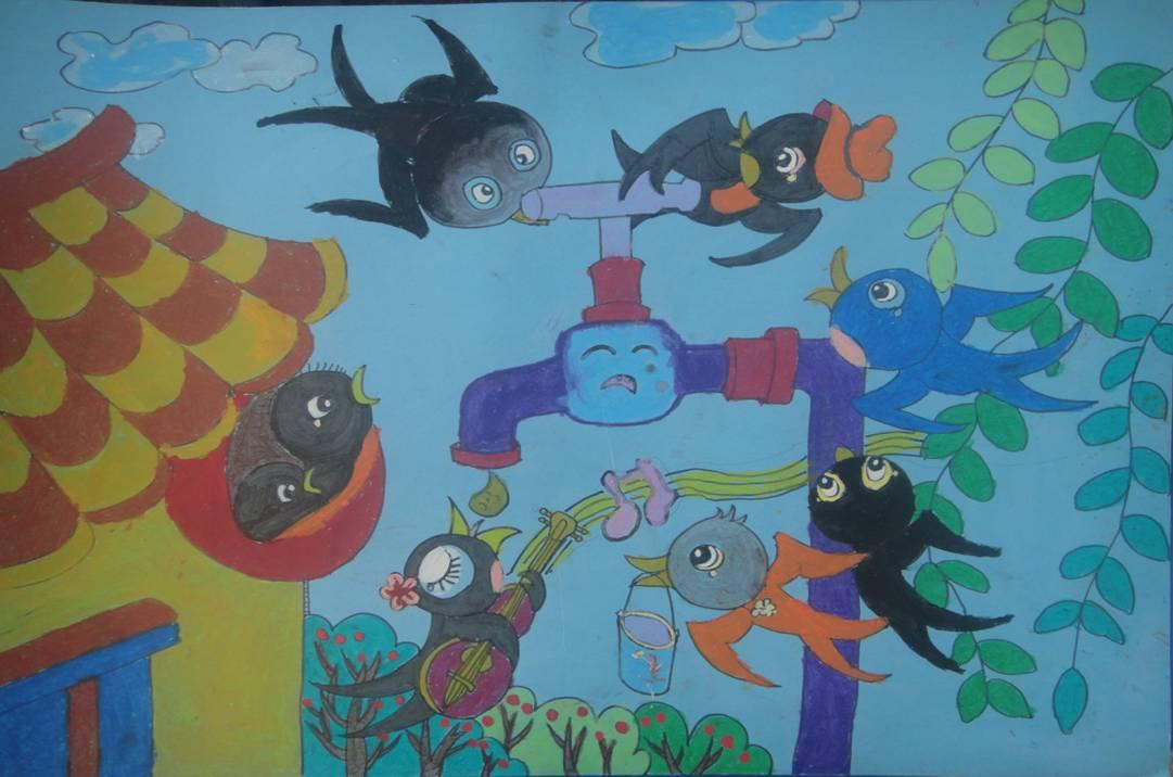 节约用水,保护环境——仪征市实验小学开展节水主题绘画评选活动