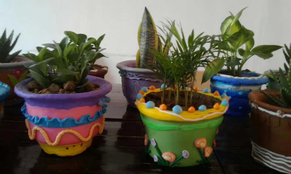 油漆桶改装花盆图案大全图片