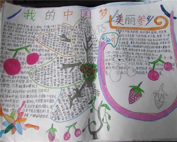 美丽中国,美丽参乡——手抄报