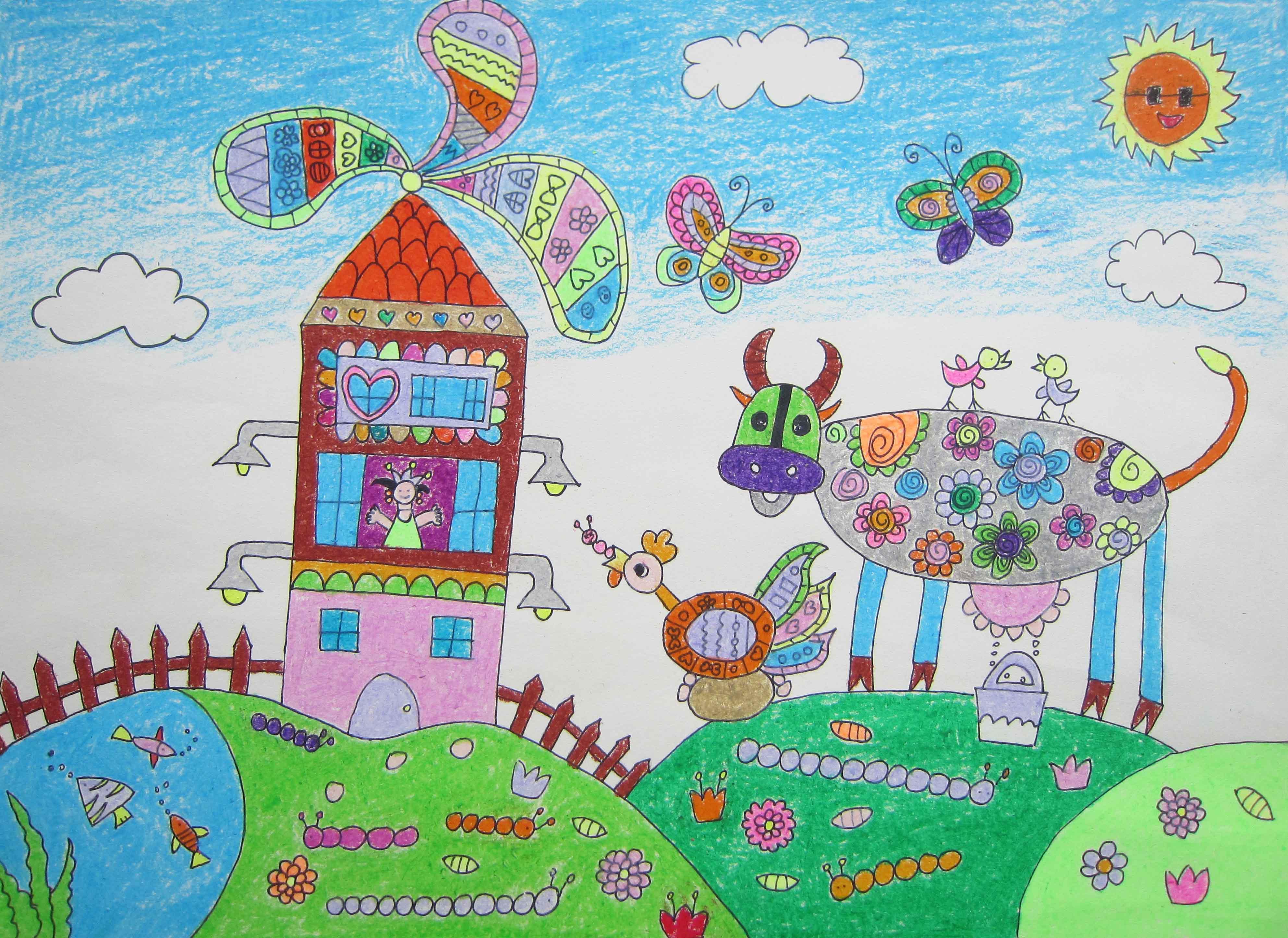 儿童家园矢量图