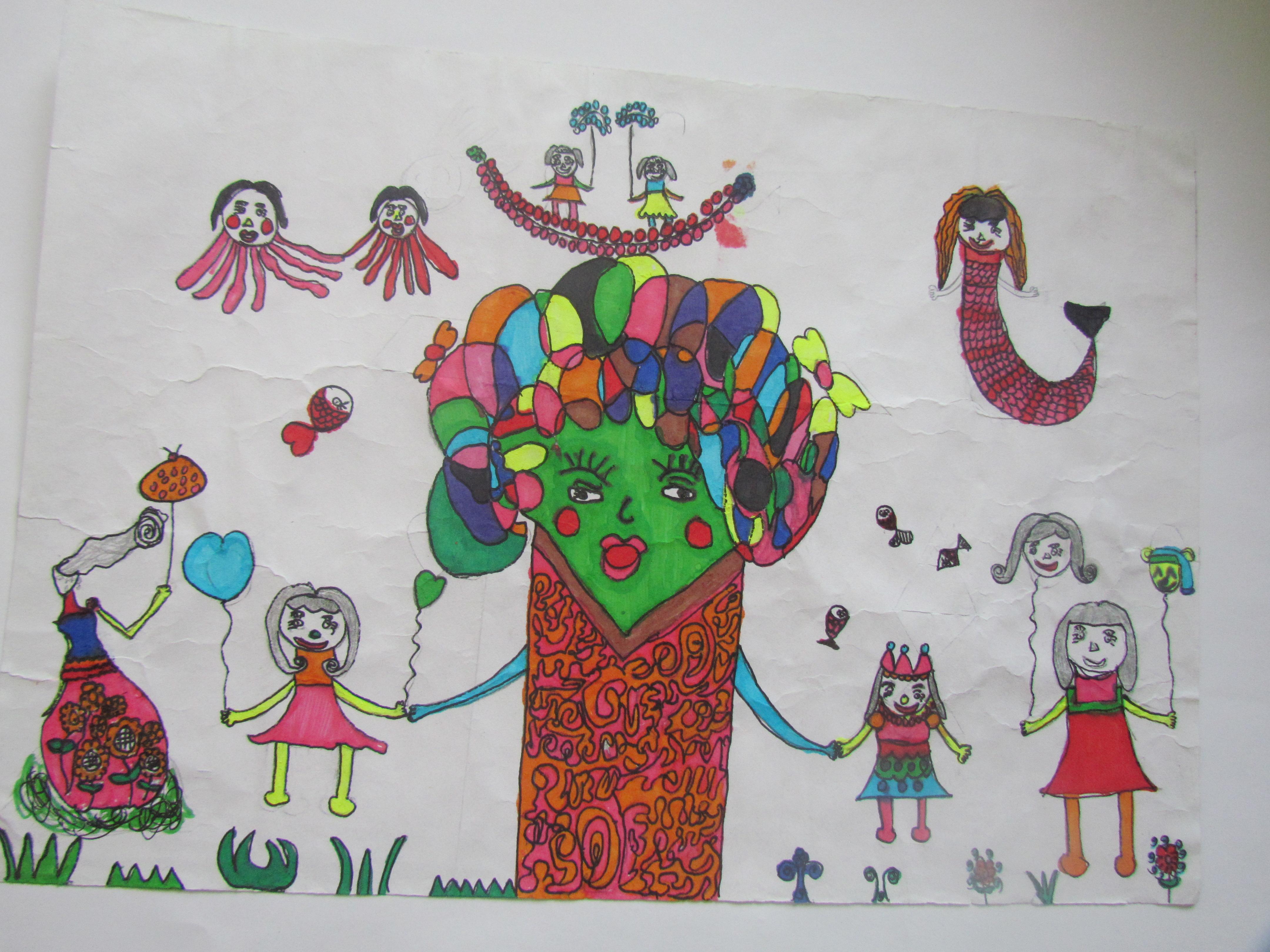 我的中国梦儿童绘画作品