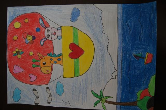 风景-小学生绘画比赛通知-小学生画画培训-美术培训班作品