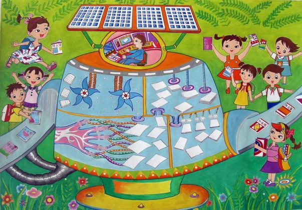 张公山三小喜获市少年儿童科学幻想绘画作品比赛